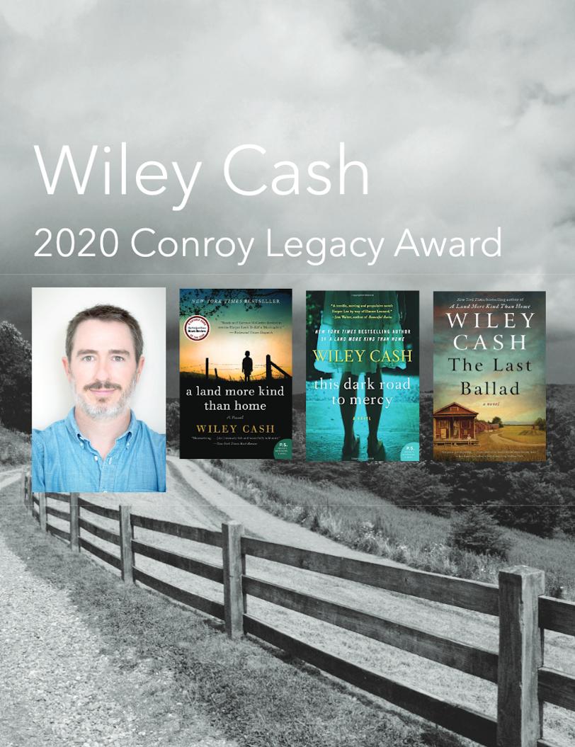 Wiley Cash Conroy Legacy Award Recipient